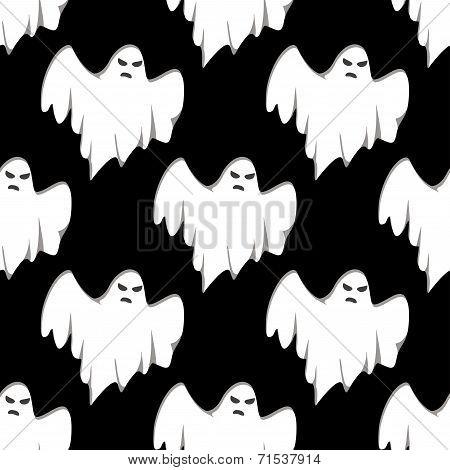 Ghost Halloween seamless pattern
