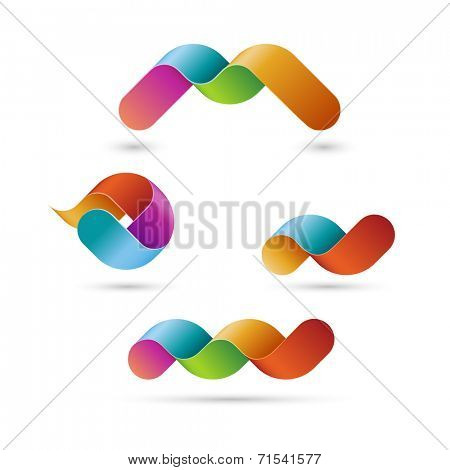 Business shapes, eps10 vector