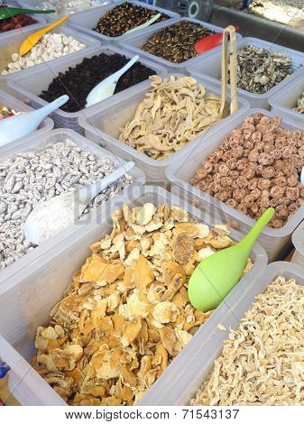 Colorful Healthy Dried Fruits In The Market