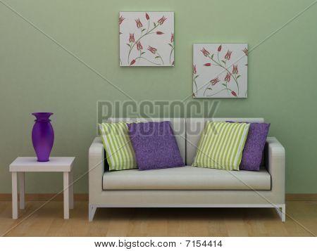 modern room