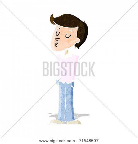 cartoon whistling man