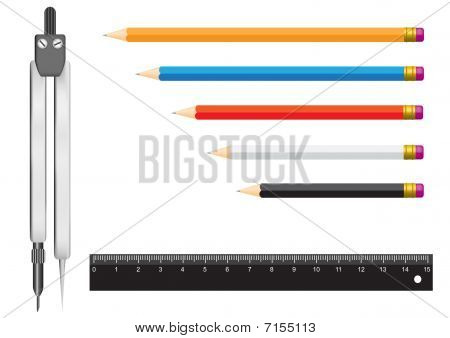 Compasses Pencil Ruler