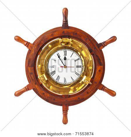 Clock In Wood Helm