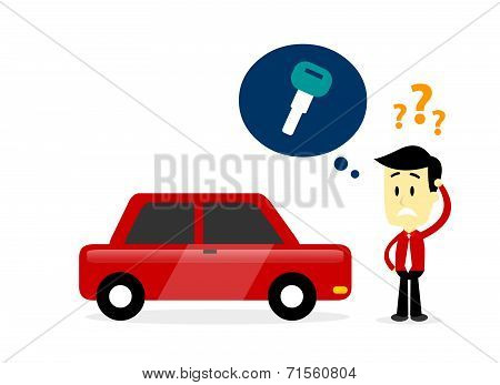 Man Missing A Car Key