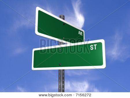 Blank Street Signs
