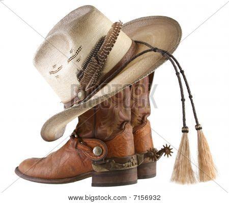 Cowboy-Stiefel, Spurs & Hut