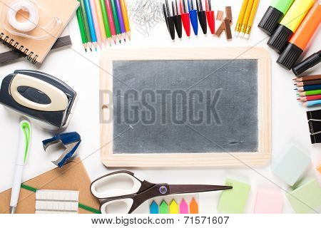 School Equipment With Slate