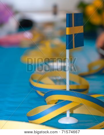 Swedish Table Flag