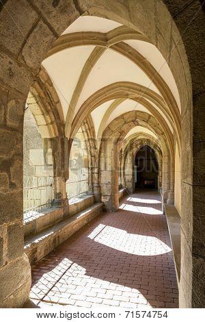 cloister of monastery, Hronsky Benadik, Slovakia