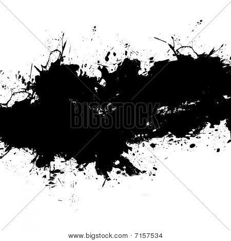 Black Splatter Ink On White.