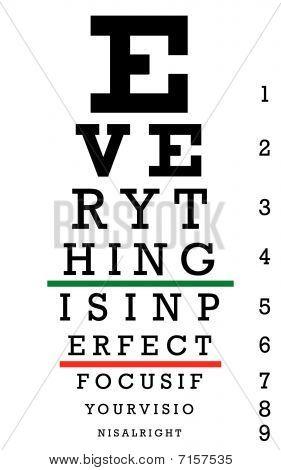 Eye Chart Perfect Focus