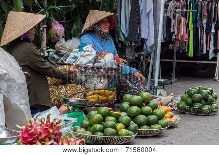 fruit vendor women in market