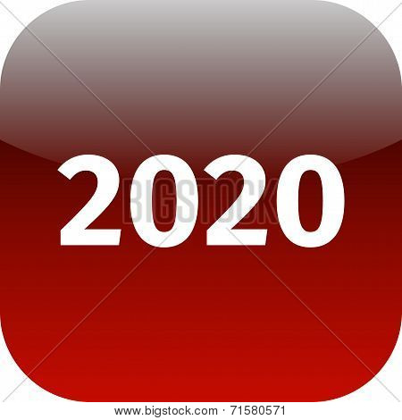 Year 2020 Red Icon