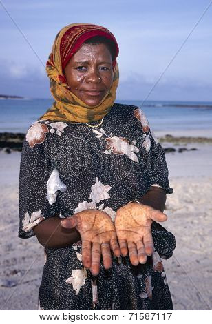 Lady With Henna