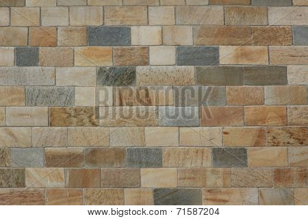 Masonry Of Multicolored Sand Stones