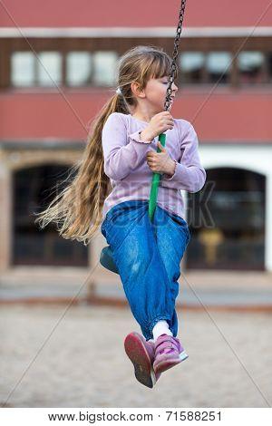 Girl On Zip Line