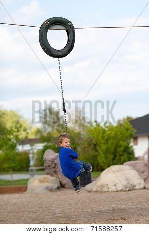 Boy On Flying Fox