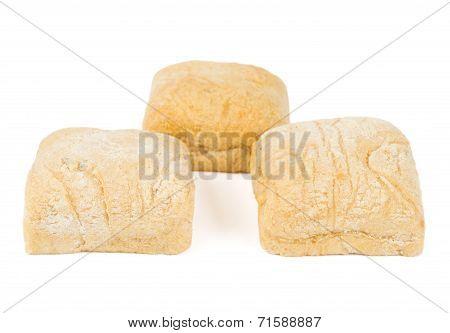 Three Square Buns