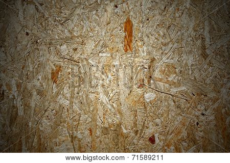 Yellow wood chipboard as background