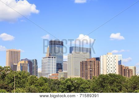 Skyscrapers Of Minneapolis, Minnesota.