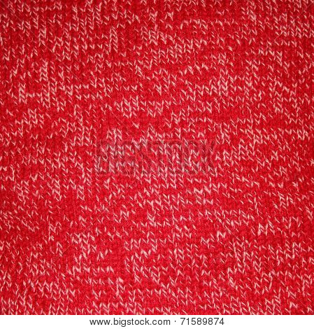 Red Marbled Knitted Background