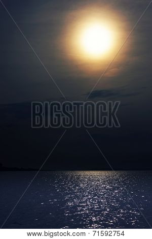Balaton Lake moonlight