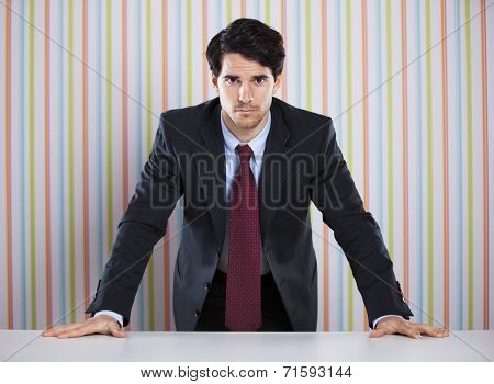 Powerful businessman at his office