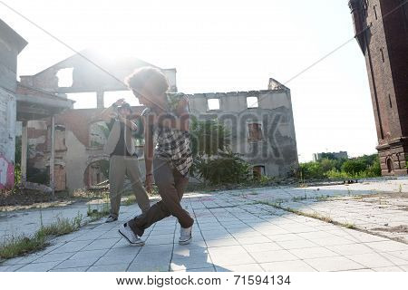 Young Male Hip Hop Or Street Dancer