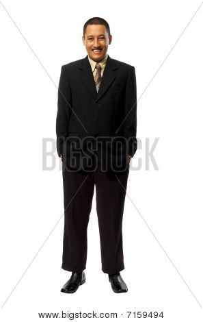 Success Fullbody Business Man
