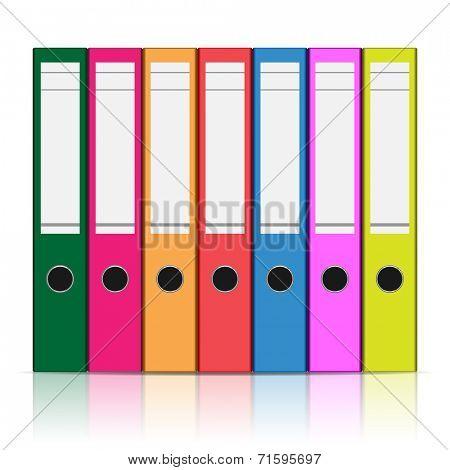 Folder to store files isolated on white background. illustration.