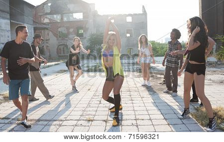 Young Girl Hip Hop Or Street Dancer