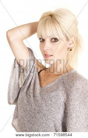 Woman Looking Side Owl Earring