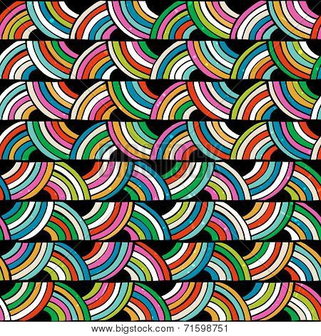 Bright colorful seamless pattern. Hand drawn background.