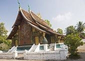 stock photo of thong  - Wat Xieng thong templeLuang Prabang  - JPG