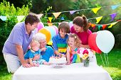 foto of little young child children girl toddler  - Happy big family  - JPG
