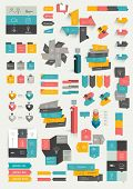 stock photo of bubbles  - Collections of infographics flat design template - JPG