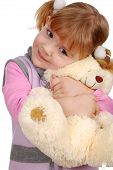 beauty little girl with teddy-bear