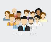 stock photo of avatar  - Vector illustration of project team - JPG