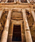 stock photo of petra jordan  - Al Khazneh in Petra - JPG
