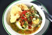 picture of ayam  - Indonesian chicken porridge or bubur ayam - JPG