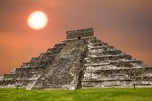 image of yucatan  - Ancient Mayan pyramid - JPG