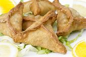 stock photo of middle eastern culture  - Middle eastern food fatayer stuffed in spinach - JPG