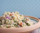 stock photo of tabouleh  - Tabouleh in bowl on table - JPG