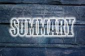 picture of summary  - Summary Concept text on background sign idea - JPG