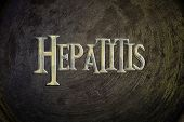 stock photo of hepatitis  - Hepatitis Concept text on background sign idea - JPG