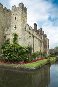 foto of hever  - The famous castle in Kent relected in its moat - JPG