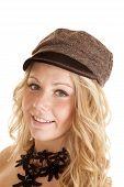 Woman Choker Hat Smile poster