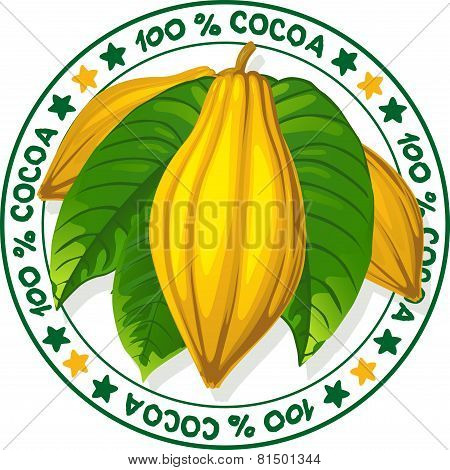 100% Cocoa Vector Stamp
