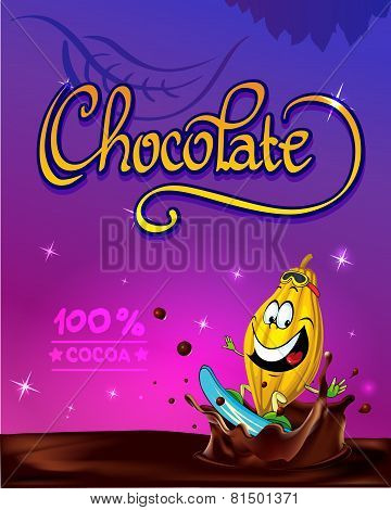 Funny Chocolate Vector Design