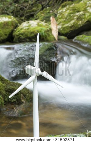 Wind power and brook